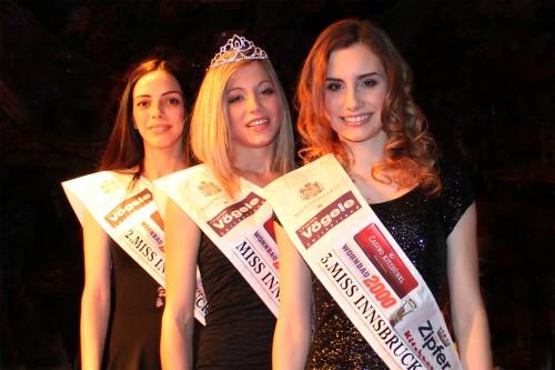 2. Nikolina Mamic, Siegerin Carmen Wagner, 3. Sara Schlierenzauer, Foto: Birgitt Zöchmann